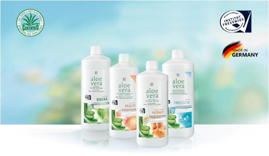 Активные ингредиенты в Питьевых гелях Алоэ Вера